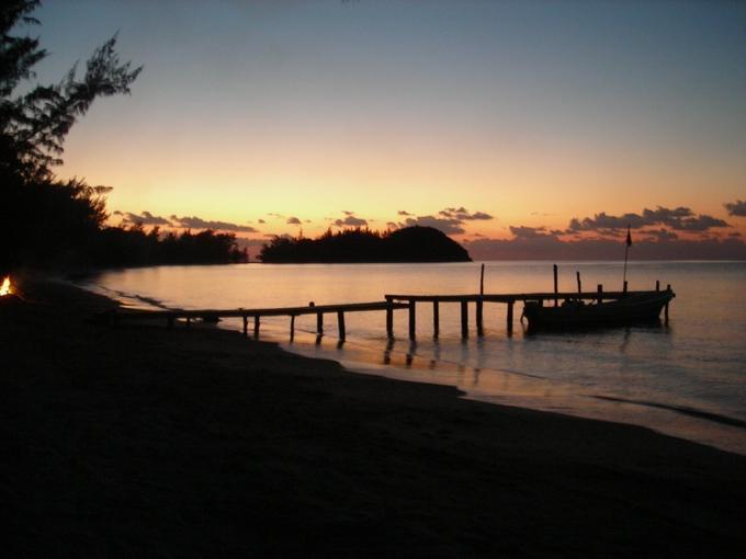 dock&beachsunset